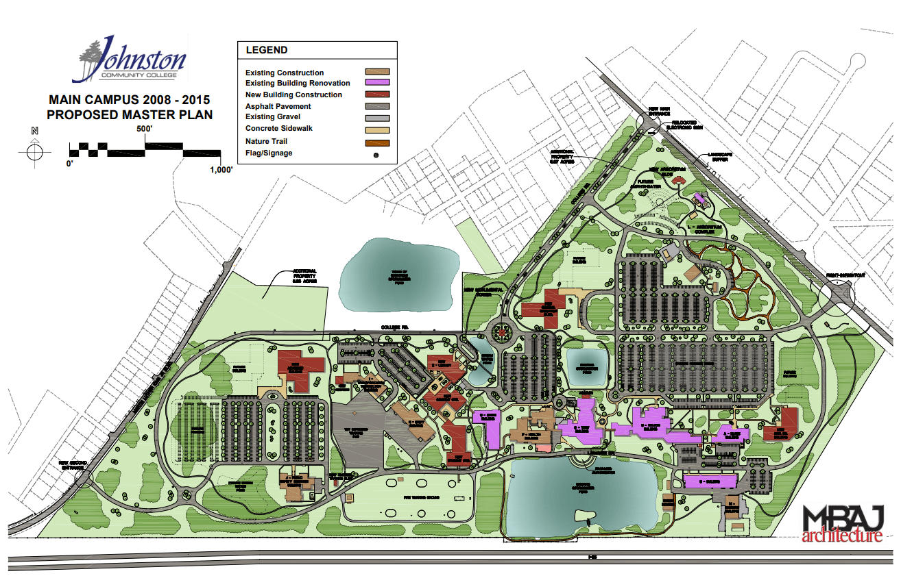 Johnson County Community College Campus Map.Johnston County Community College Master Plan Lynch Mykins